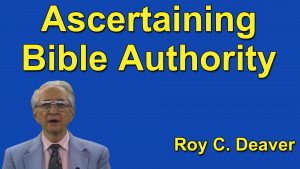 Ascertaining Bible Authority