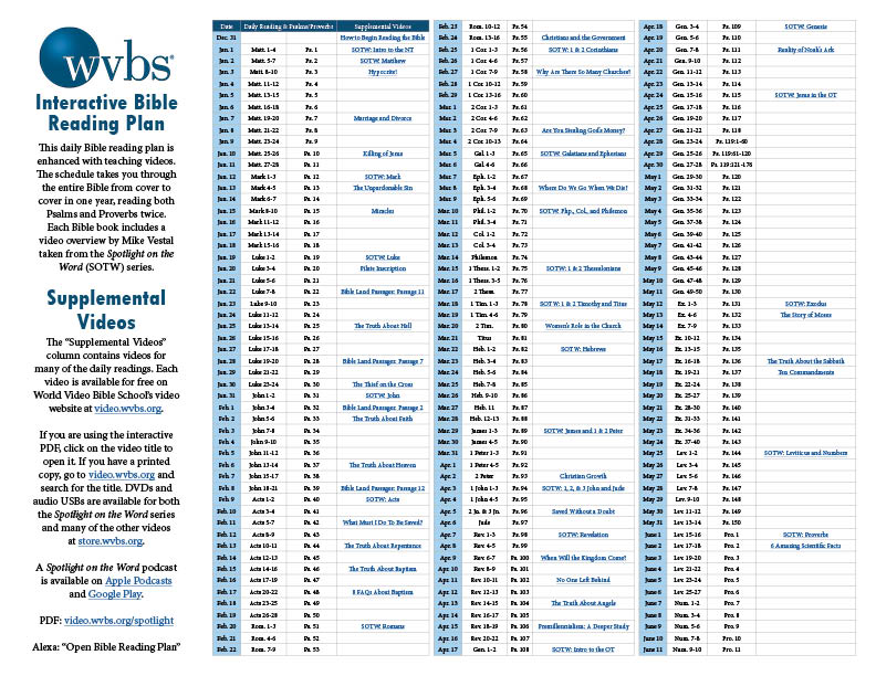 WVBS Interactive Bible Reading Plan Promotional Graphic