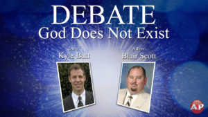 Debate: God Does Not Exist (Butt-Scott)