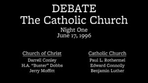 Night 1 | Debate on the Catholic Church (Pottsville, PA)