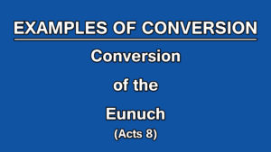 3. Conversion of the Eunuch (Acts 8)| Examples of Conversion