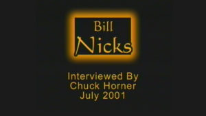 Interview with Bill Nicks by WVBS