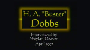 Interview with H.A. Buster Dobbs by WVBS