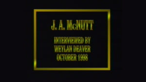 Interview with J.A. McNutt by WVBS