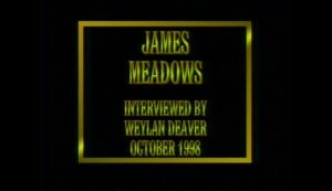 Interview with James Meadows by WVBS