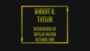 Interview with Robert Taylor by WVBS