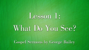 1. What Do You See? | Sermons by George Bailey