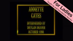 Annette Cates | Interviews With Christian Women