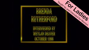 Brenda Rutherford | Interviews With Christian Women