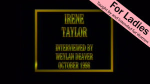 Irene Taylor | Interviews with Christian Women