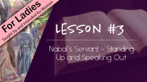 3. Nabal's Servant - Standing Up and Speaking Out | Intriguing Men of the Bible