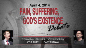 Pain, Suffering, and God's Existence Debate (Kyle Butt / Bart Ehrman)