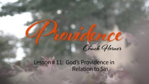 Providence: 11. God's Providence in Relation to Sin