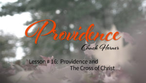 Providence: 16. Providence and the Cross of Christ